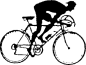 Engraved Cyclist 222